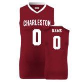 Charleston Replica Maroon Adult Basketball Jersey-Personalized