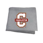 Grey Sweatshirt Blanket-Official Logo - C Charleston
