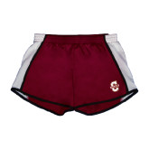 Ladies Maroon/White Team Short-Official Logo - C Charleston
