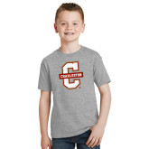 Youth Grey T-Shirt-Official Logo - C Charleston