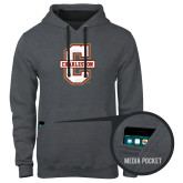Contemporary Sofspun Charcoal Heather Hoodie-Official Logo - C Charleston