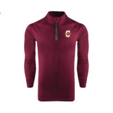 Under Armour Maroon Tech 1/4 Zip Performance Shirt-Official Logo - C Charleston