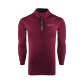 Under Armour Maroon Tech 1/4 Zip Performance Shirt-Charleston Script