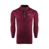 Under Armour Maroon Tech 1/4 Zip Performance Shirt-The College Script