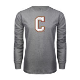 Grey Long Sleeve T Shirt-C