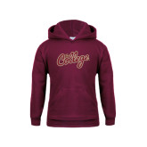 Youth Maroon Fleece Hoodie-The College Script