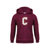 Youth Maroon Fleece Hoodie-C