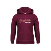 Youth Maroon Fleece Hoodie-Sailing