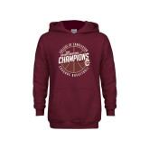 Youth Maroon Fleece Hoodie-CAA Mens Basketball Champions