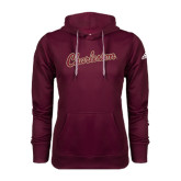 Adidas Climawarm Maroon Team Issue Hoodie-Charleston Script