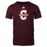 Adidas Maroon Logo T Shirt-Official Logo - C Charleston