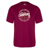 Performance Maroon Tee-CAA Mens Basketball Champions
