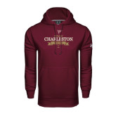 Under Armour Maroon Performance Sweats Team Hoodie-Sailing Anchor Design