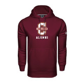 Under Armour Maroon Performance Sweats Team Hoodie-Alumni
