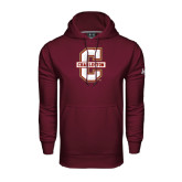 Under Armour Maroon Performance Sweats Team Hoodie-Official Logo - C Charleston