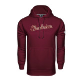 Under Armour Maroon Performance Sweats Team Hoodie-Charleston Script