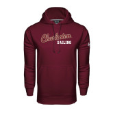 Under Armour Maroon Performance Sweats Team Hoodie-Sailing