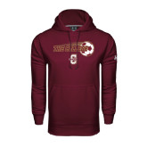Under Armour Maroon Performance Sweats Team Hoodie-Soccer Ball Design