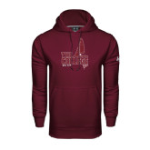 Under Armour Maroon Performance Sweats Team Hoodie-Sail Boat Design