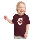 Toddler Maroon T Shirt-Official Logo - C Charleston