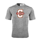 Performance Grey Heather Contender Tee-Official Logo - C Charleston