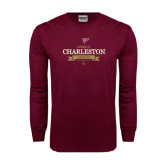 Maroon Long Sleeve T Shirt-Sailing Anchor Design