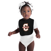 Black Baby Bib-Official Logo - C Charleston