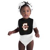 Black Baby Bib-Official Logo - C Charleston