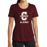 Ladies Performance Maroon Tee-Alumni