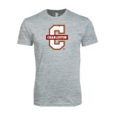 Next Level SoftStyle Heather Grey T Shirt-Official Logo - C Charleston