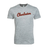 Next Level SoftStyle Heather Grey T Shirt-Charleston Script