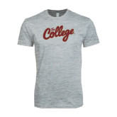 Next Level SoftStyle Heather Grey T Shirt-The College Script