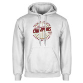 White Fleece Hoodie-CAA Mens Basketball Champions