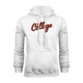 White Fleece Hoodie-The College Script