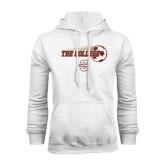 White Fleece Hoodie-Soccer Ball Design