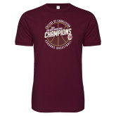 Next Level SoftStyle Maroon T Shirt-CAA Mens Basketball Champions