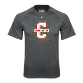 Under Armour Carbon Heather Tech Tee-Official Logo - C Charleston