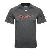 Under Armour Carbon Heather Tech Tee-Charleston Script