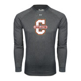 Under Armour Carbon Heather Long Sleeve Tech Tee-Official Logo - C Charleston