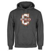 Charcoal Fleece Hoodie-Official Logo - C Charleston