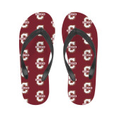 Ladies Full Color Flip Flops-Official Logo - C Charleston