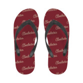 Ladies Full Color Flip Flops-Charleston Script
