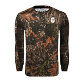 Realtree Camo Long Sleeve T Shirt w/Pocket-Official Logo - C Charleston Tone