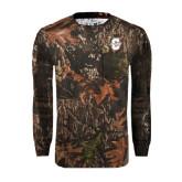 Realtree Camo Long Sleeve T Shirt w/Pocket-Official Logo - C Charleston Tone