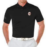 Callaway Opti Vent Black Polo-Official Logo - C Charleston