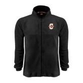 Fleece Full Zip Black Jacket-Official Logo - C Charleston
