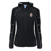 Columbia Ladies Sweet As Black Hooded Jacket-Official Logo - C Charleston