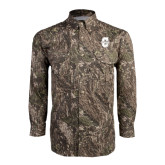 Camo Long Sleeve Performance Fishing Shirt-Official Logo - C Charleston Tone