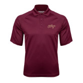 Maroon Textured Saddle Shoulder Polo-The College Script
