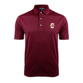 Maroon Dry Mesh Polo-Official Logo - C Charleston